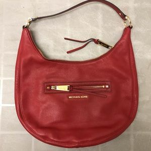 Michael Kors Red Rhea Shoulder Bag